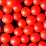 Solid Red Polyethylene microspheres 250-300um