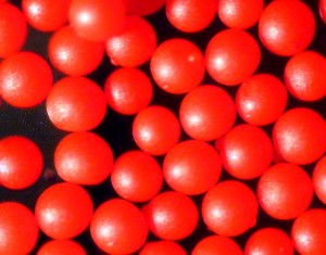 Red Polymer Spheres