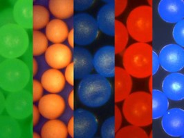Density Marker Beads for Density Gradients - Precision Density Spheres in Solution from Cospheric LLC